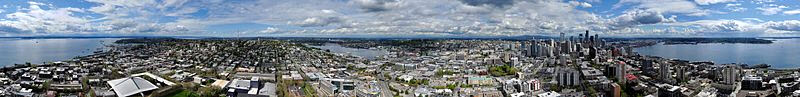 City of Seattle Washington from the Space Needle
